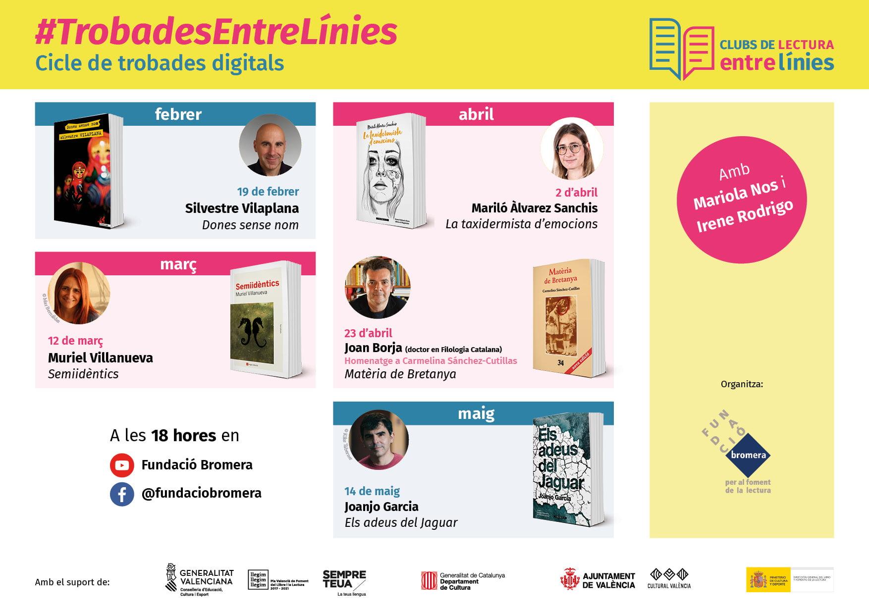 La Fundació Bromera impulsa la segona edició de les #TrobadesEntreLínies